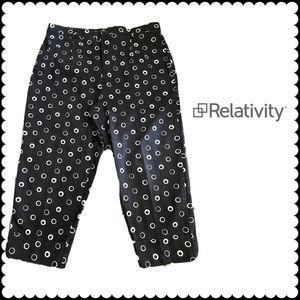 Relativity Woman Polka Dot Capri Pants Size 18W
